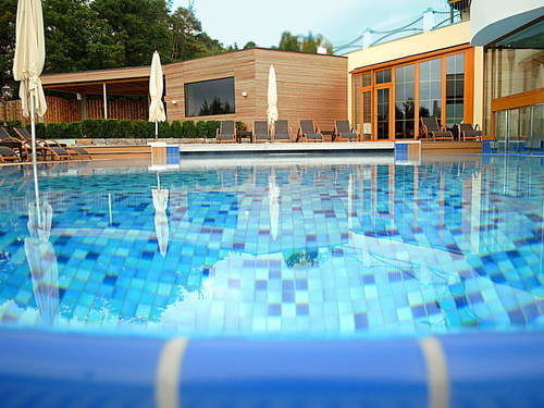 Outdoor pool Landhotel Birkenhof wellness Bavarian Forest